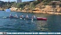 Cinq jeunes autistes accomplissent un défi : Marseille-Cassis à la rame