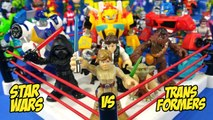 Transformers vs Star Wars Toys Shake Rumble with Playskool Superheroes // RUMBLE LEAGUE by KIDCITY