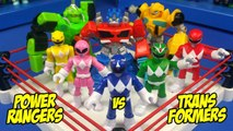 Transformers vs Power Rangers Shake Rumble Toys Wrestling Match - RUMBLE LEAGUE by KIDCITY