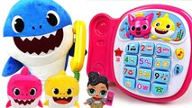 Let's talk on the phone- LOL Surprise eggs and Pinkfong Singing Phone - PinkyPopTOY
