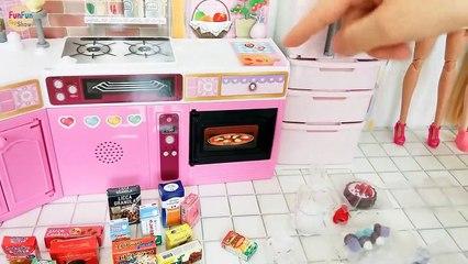Japanese Style Doll Kitchen for Barbie doll Unboxing Dapur boneka Barbie Cozinha boneca | Karla D.