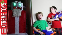Robot Santa Claus Nerf Battle- Holiday Cyborg Attacks Ethan and Cole-
