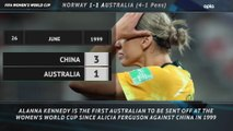 FOOTBALL: FIFA Women's World Cup: 5 Things Review - Norway 1-1 Australia (Norway win 4-1 on pens)
