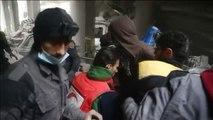Duras imágenes del rescate de heridos y fallecidos en un nuevo bombardeo sobre Guta Oriental