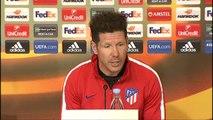 """Simeone: """"Es la Europa League y es la realidad que tenemos"""""""