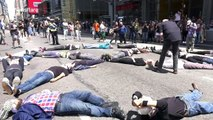 """Arrests at protest over New York Times' """"unacceptable"""" climate coverage"""