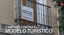 Campaña contra la burbuja turística en Madrid en vísperas de Fitur