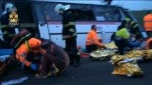 Mueren tres personas al chocar un turismo contra un autobús en República Checa