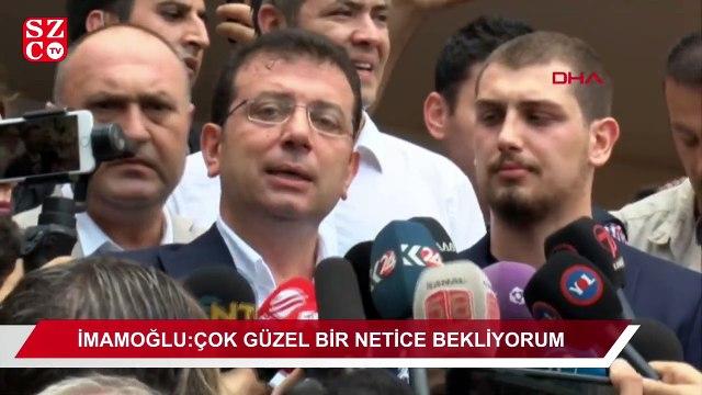 """Ekrem İmamoğlu: """"Çok güzel bir netice bekliyorum"""""""