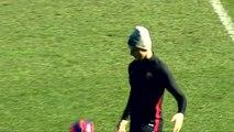 El entrenamiento del Barça en el Mini Estadi, regalo de Reyes adelantado para la afición