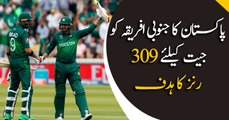 South Africa require 309 runs to win