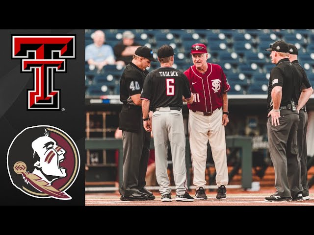 -8 Texas Tech vs Florida State College World Series Elimination Game – College Baseball Highlights