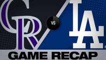 Verdugo's walk-off HR gives Dodgers 5-4 win - Rockies-Dodgers Game Highlights 6/22/19
