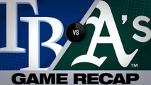 Chapman leads A's to 4-2 win over the Rays - Rays-Athletics Game Highlights 6/22/19