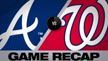 Swanson, Freeman lead Braves past the Nats - Braves-Nationals Game Highlights 6/22/19