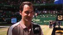 Reaction after Roger Federer won his 10th Halle title
