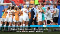 FOOTBALL: FIFA Women's World Cup: Fast Match Report - England 3-0 Cameroon