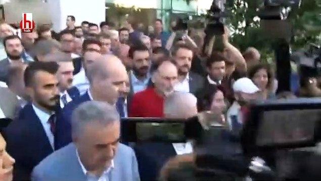 Binali Yıldırım ve Süleyman Soylu binadan çıkarken istifa sloganları