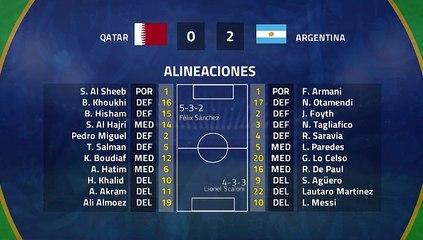 Resumen partido entre Qatar y Argentina Jornada 3 Copa América