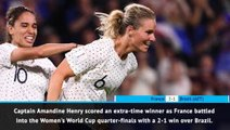 FOOTBALL: FIFA Women's World Cup: Fast Match Report - France 2-1 Brazil (AET)