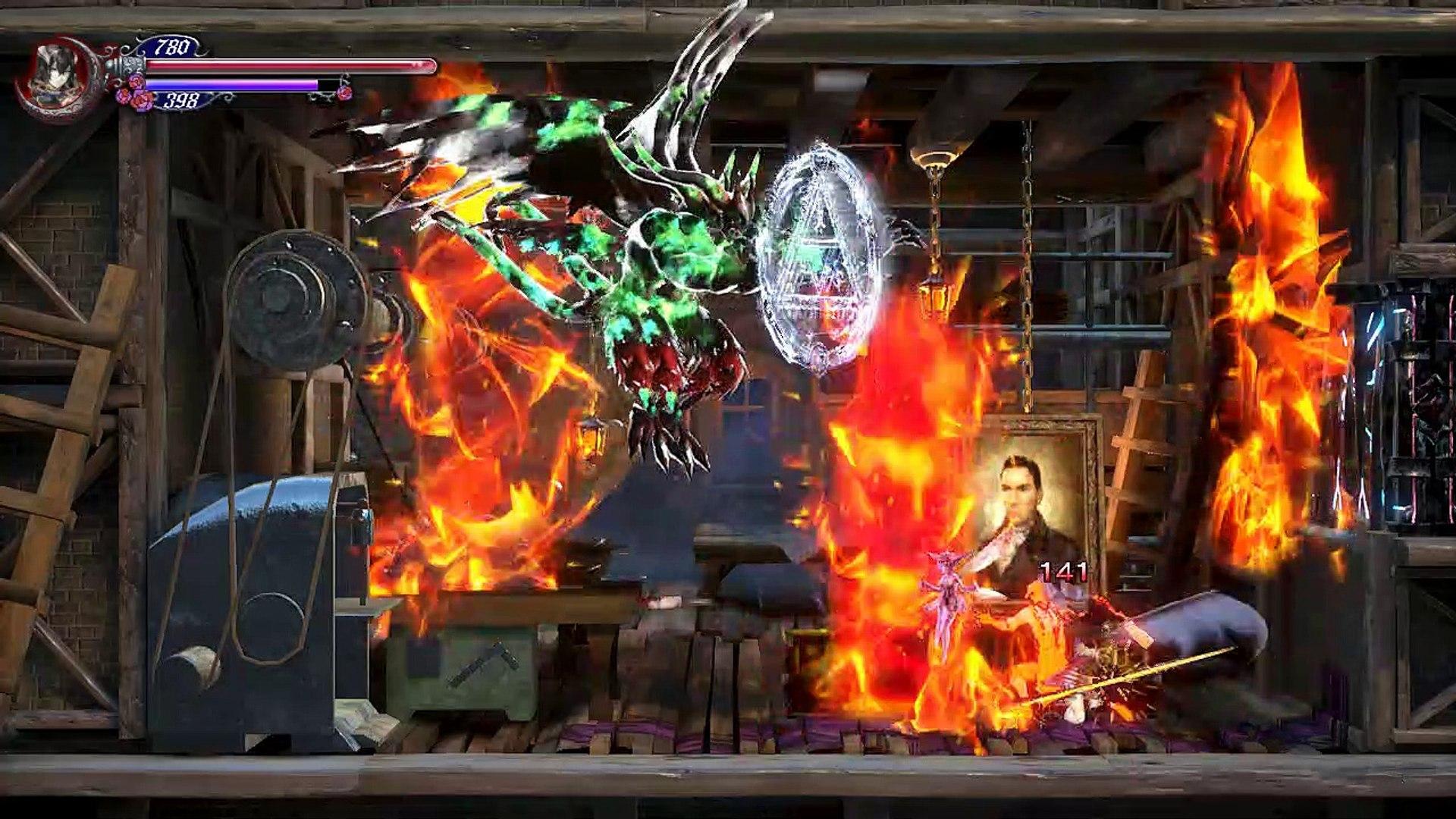 Bloodstained ROTN,Gameplay Español 10, Zangetsu me presta su espada para matar a Gremory que control