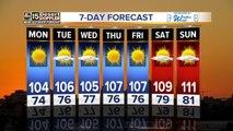 Temperatures rise this week