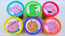 Learn Colors Peppa Pig Play Doh Surprises - Aprende Los Colores con Peppa Pig