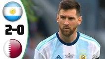 Argentina vs Qatar 2-0 Highlights - All Goals - COPA AMERICA 2019