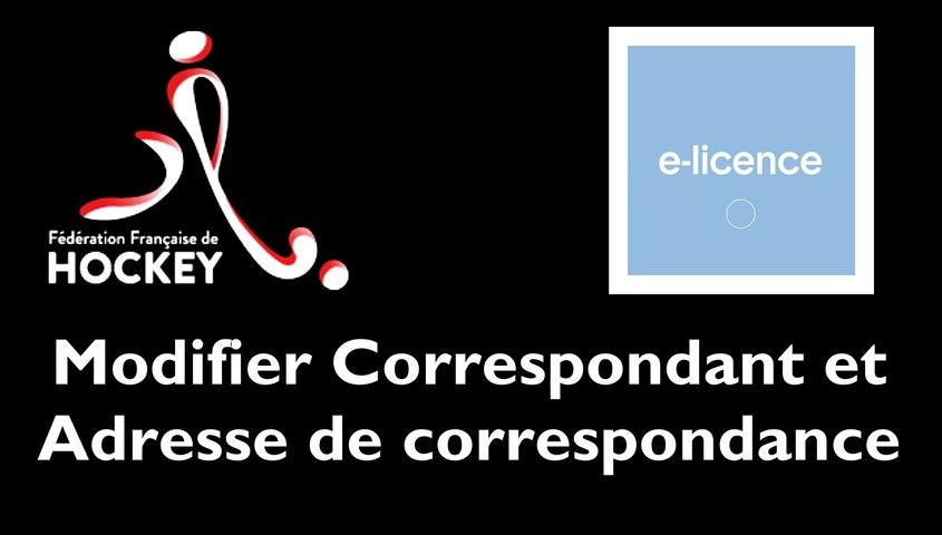 [INTRANET FFH] Modifier Correspondant et Adresse de Correspondance