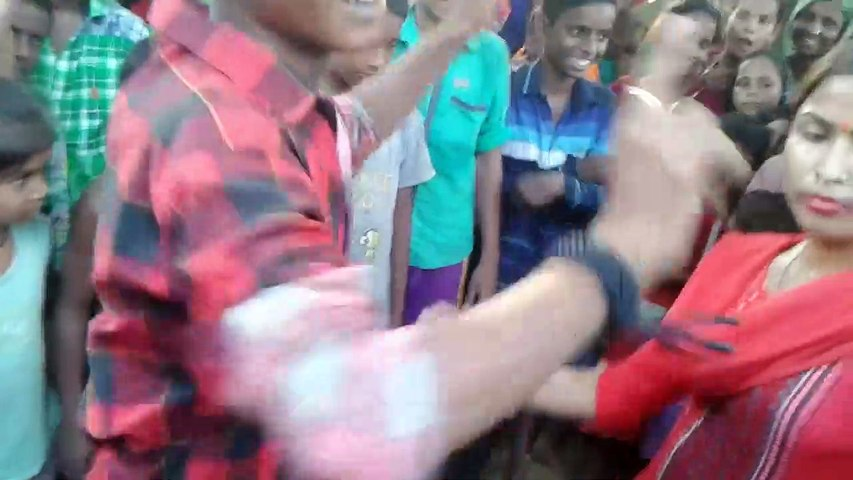 a lot of dance competition between boy and girl
