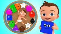 Wooden Clock Toys to Learn Shapes for Kids - Little Baby fun Learning Videos