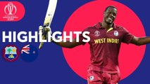 West Indies v New Zealand - Match Highlights - ICC Cricket World Cup 2019