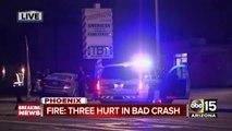 Three hurt in bad crash in West Phoenix
