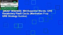 [MOST WISHED]  500 Essential Words: GRE Vocabulary Flash Cards (Manhattan Prep GRE Strategy Guides)