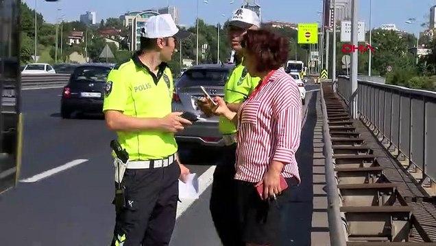 15 Temmuz Şehitler Köprüsü'nde araç takla attı trafik kilit!