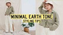 Korean Online Shop Styling Basic Minimal Earth Tone Clothing Q2HAN