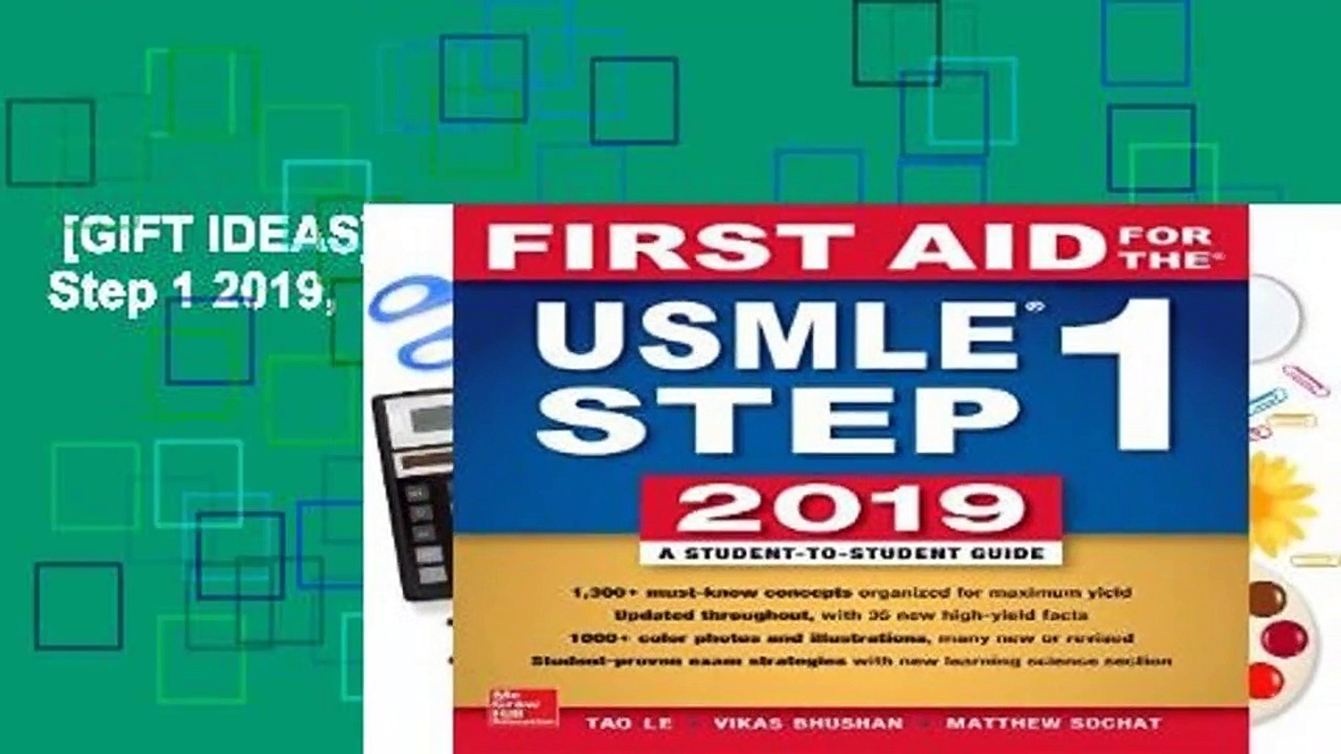 [GIFT IDEAS] First Aid for the USMLE Step 1 2019, Twenty-ninth edition