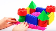 DIY Kinetic Sand How To Make A Castle Learn Colors Numbers For Kids Play Doh