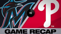 Marlins hit 3 HRs, complete series sweep - Marlins-Phillies Game Highlights 6/23/19