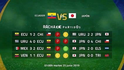 Previa partido entre Ecuador y Japón Jornada 3 Copa América