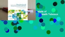 Trial New Releases  The Essentials of Technical Communication by Elizabeth Tebeaux