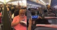 """Pilotun """"Her şey çok güzel olacak"""" anonsuna yolcuların cevabı türbülans etkisi yarattı!"""