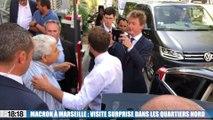 Emmanuel Macron à Marseille : visite surprise dans les quartiers Nord