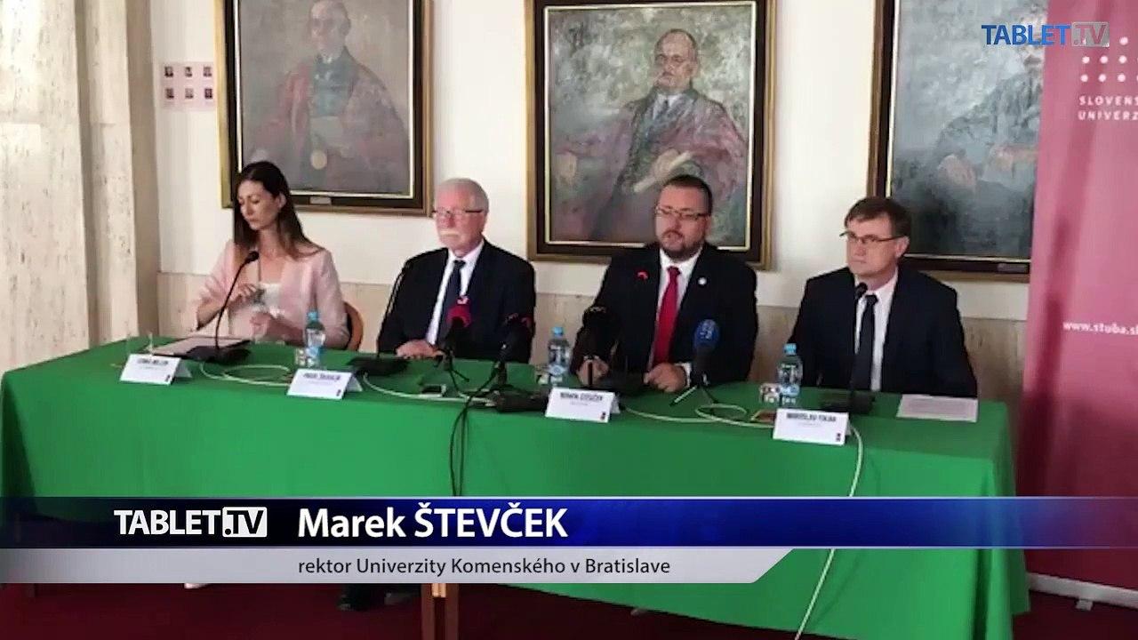 ZÁZNAM: TK za účasti rektora Univerzity Komenského v Bratislave Mareka Števčeka