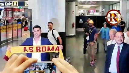 Fiumicino, Fonseca sbarca a Roma (24/06/2019)