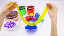 Mixing Best Slime And Orbeez DIY Miniature Beach Stress How To Make An Orbeez Hourglass