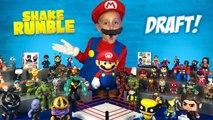 Wolverine, Thanos - Mario- Super Hero Shake Rumble Draft for Kids-