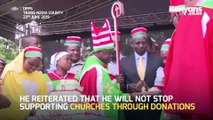 Dp ruto joins African Divine Church leaders for a Sunday service in Vihiga County