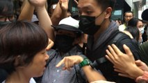 Conflicts and scuffles break out between protesters and public