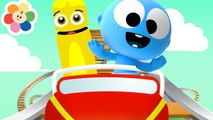 Roller Coaster Fun with Laughing GooGoo Baby - Color Crew - Theme Park Coloring for Kids - Babies